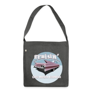 Shoulderbag made from recycled material Cruisin' Pink Cadillac | Classic American Automotive  - Shoulder Bag made from recycled material