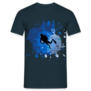 Dive Splash - Männer T-Shirt
