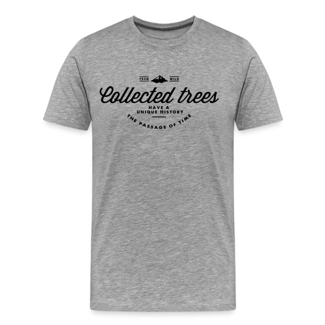 T-Shirt homme THE Collected trees VINTAGE LOGO (black)