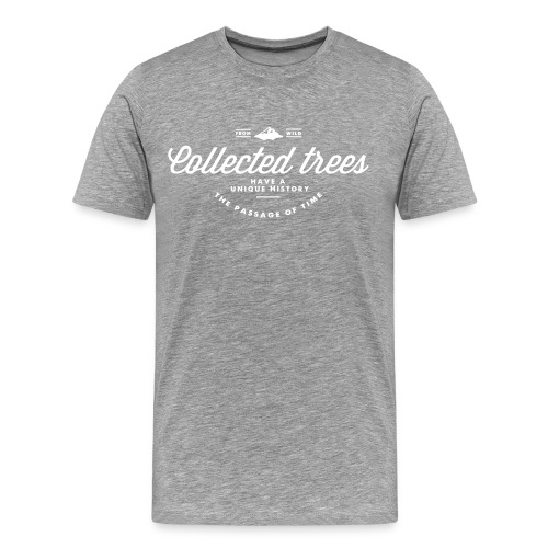 T-Shirt homme THE Collected trees VINTAGE LOGO (white) - T-shirt Premium Homme