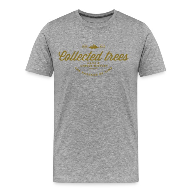 T-Shirt homme THE Collected trees VINTAGE LOGO (gold)