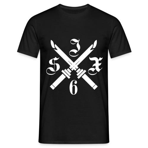 SIX6 CROSS SPADE WHITE/BLACK TSHIRT - T-shirt Homme