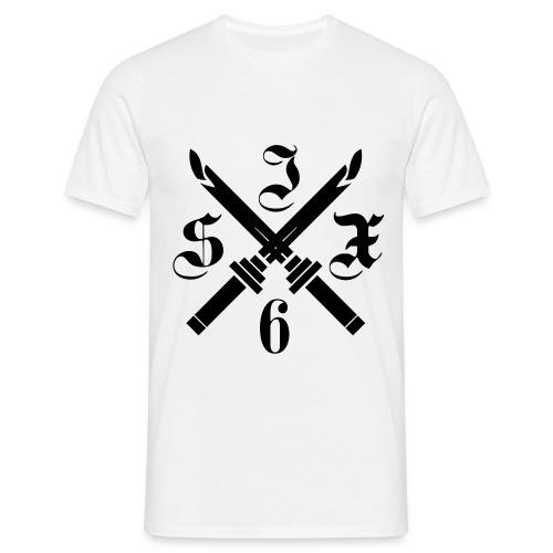 SIX6 CROSS SPADE BLACK/WHITE TSHIRT - T-shirt Homme