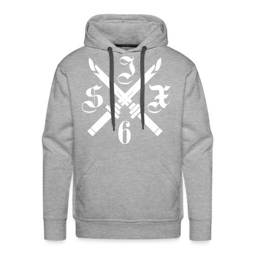 SIX6 CROSS SPADE WHITE/GREY HOODIE - Sweat-shirt à capuche Premium pour hommes