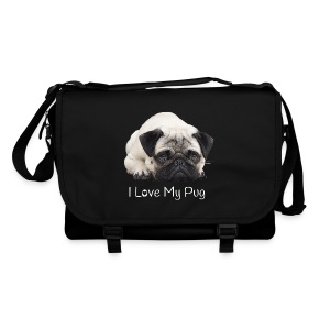 I Love My Pug Tasche - Umhängetasche