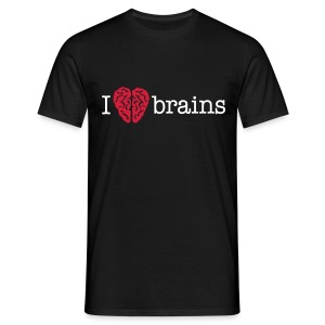 YellowIbis.com 'Medical One Liners' Men's / Unisex Classic T-Shirt: I love brains (Black) - Men's T-Shirt