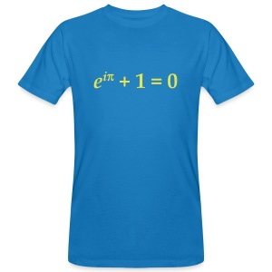 YellowIbis.com 'Mathematics Symbols' Men's / Unisex Earth Positive Organic T: Euler's Identity (Colour Choice) - Men's Organic T-shirt