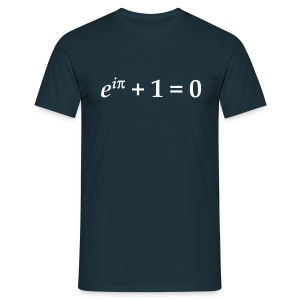 YellowIbis.com 'Mathematics Symbols' Men's / Unisex Classic T-Shirt: Euler's Identity (Colour choice) - Men's T-Shirt