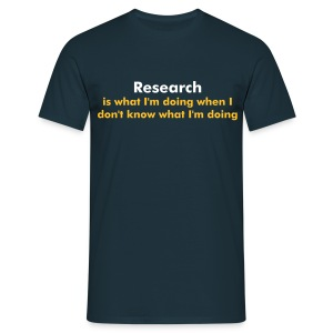 YellowIbis.com 'One Liners' Men's / Unisex Classic T-Shirt: Research (Navy) - Men's T-Shirt