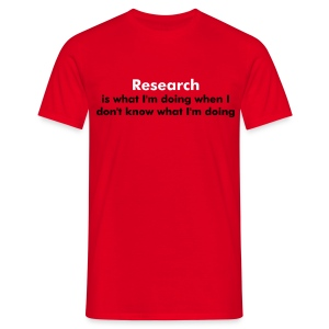 YellowIbis.com 'One Liners' Men's / Unisex Classic T-Shirt: Research (Red) - Men's T-Shirt