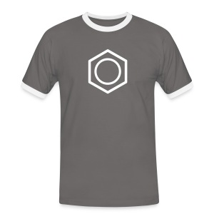 YellowIbis.com 'Chemical Structures' Men's / Unisex Ringer T-Shirt: Benzene (Grey/White) - Men's Ringer Shirt