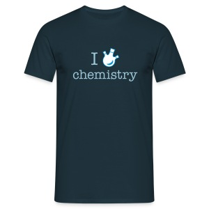 YellowIbis.com 'Chemistry One Liners' Men's / Unisex Classic T-Shirt: I love chemistry (Navy) - Men's T-Shirt
