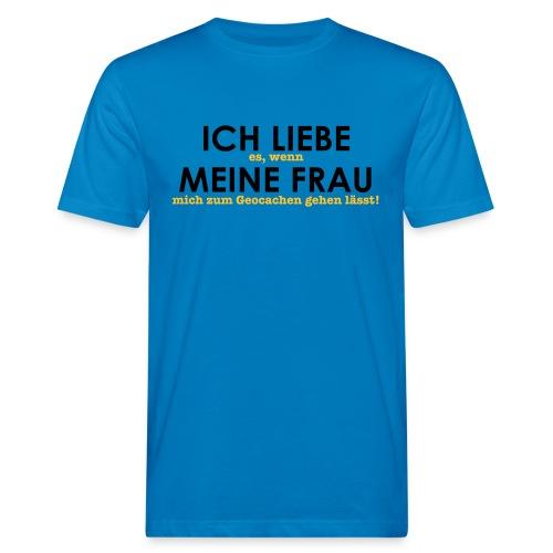 Ich liebe... Geocachen - Männer Bio-T-Shirt