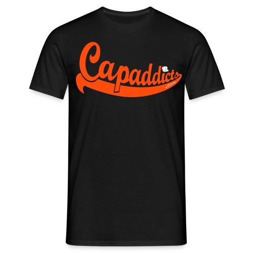 Capaddicts - Black/Orange/White - Männer T-Shirt