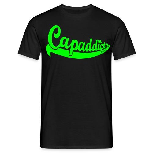 Capaddicts - Black/Neongreen - Männer T-Shirt