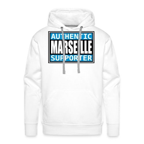 Sweat Authentic Marseille - Sweat-shirt à capuche Premium pour hommes