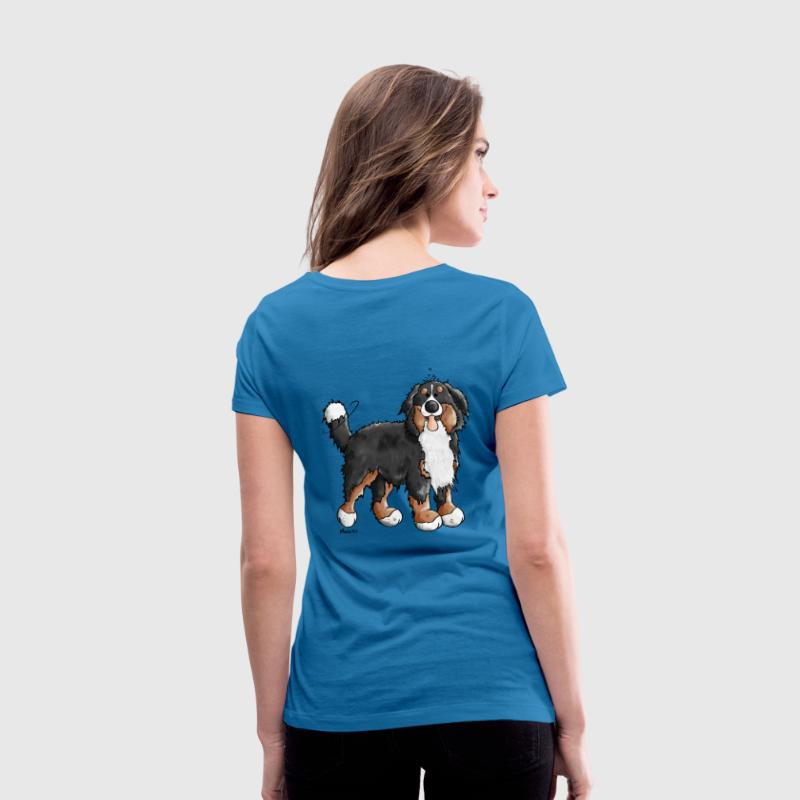 Happy Bernese Mountain Dog T-Shirts - Women's V-Neck T-Shirt