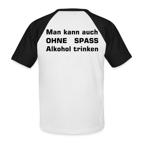 Alkohol Back Edition - Männer Baseball-T-Shirt