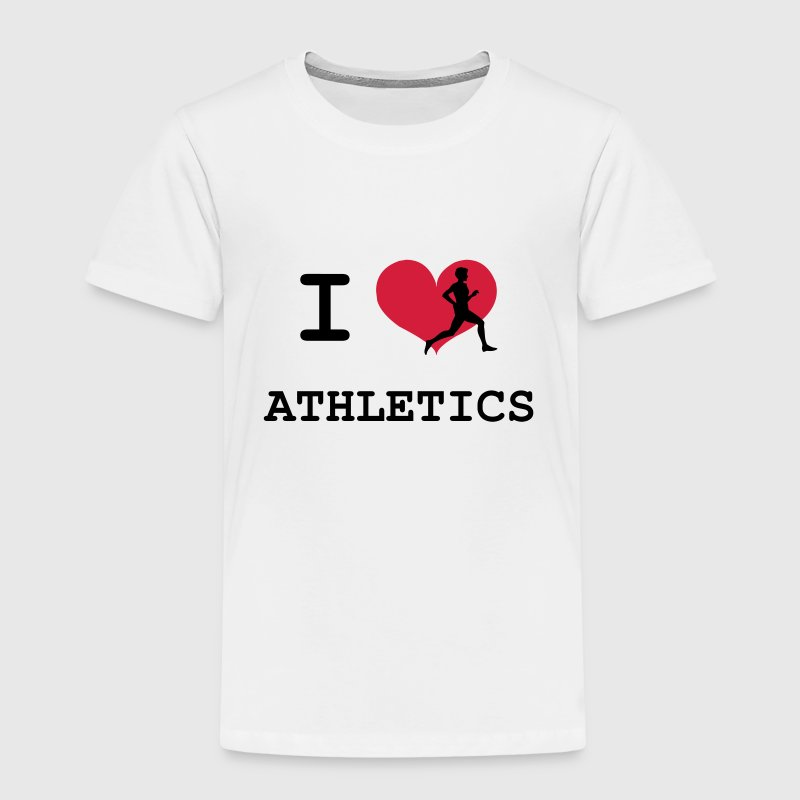 I Love Athletics  Tee shirts - T-shirt Premium Enfant