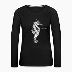 A fancy Seahorse (white contours) Long Sleeve Shirts