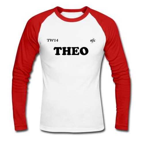 THEO baseball t-shirt - Men's Long Sleeve Baseball T-Shirt