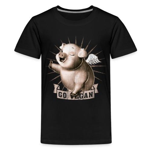 Go Vegan   - T-shirt Premium Ado