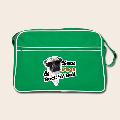 Sex Pugs RocknRoll Retrotasche - Retro Tasche