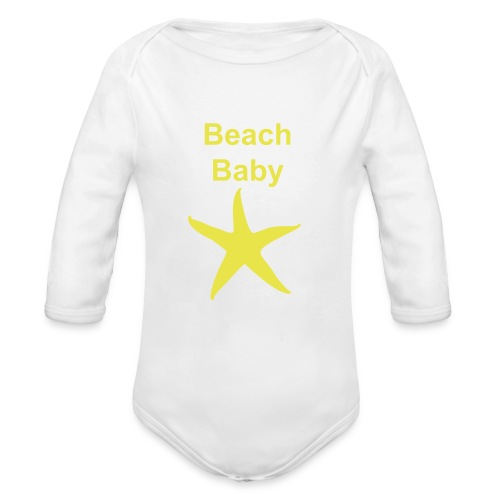 Little Starfish One Piece - Organic Longsleeve Baby Bodysuit