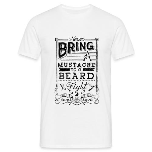 Moustache To A Beard T-shirt - Men's T-Shirt