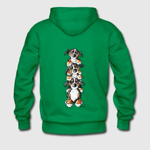 Three Funny Bernese Mountain Dogs Hoodies & Sweatshirts - Men's Premium Hoodie