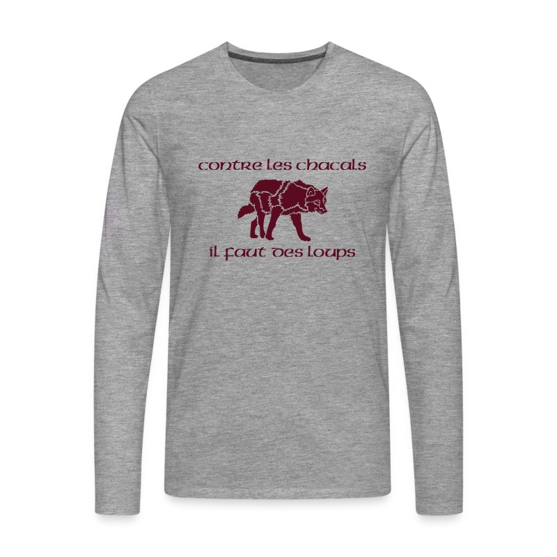 T-shirt ML Homme Loup Vs Chacal - T-shirt manches longues Premium Homme