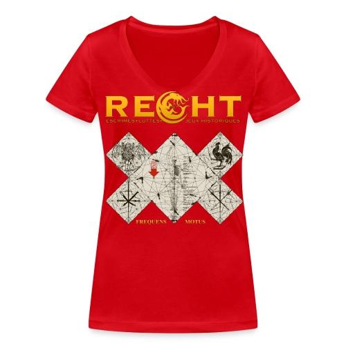 T-Shirt Reght Gérard Thibault Femme - T-shirt bio col V Stanley & Stella Femme