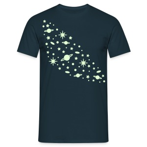 YellowIbis.com 'Astronomy' Men's / Unisex Classic T-Shirt: Galaxy (Navy, Glow in the Dark)  - Men's T-Shirt