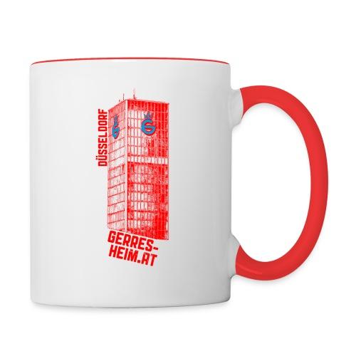 Der Glasturm. - Tasse zweifarbig