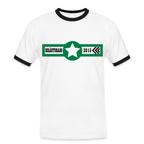 Bräutigam 2015 - Männer Kontrast-T-Shirt