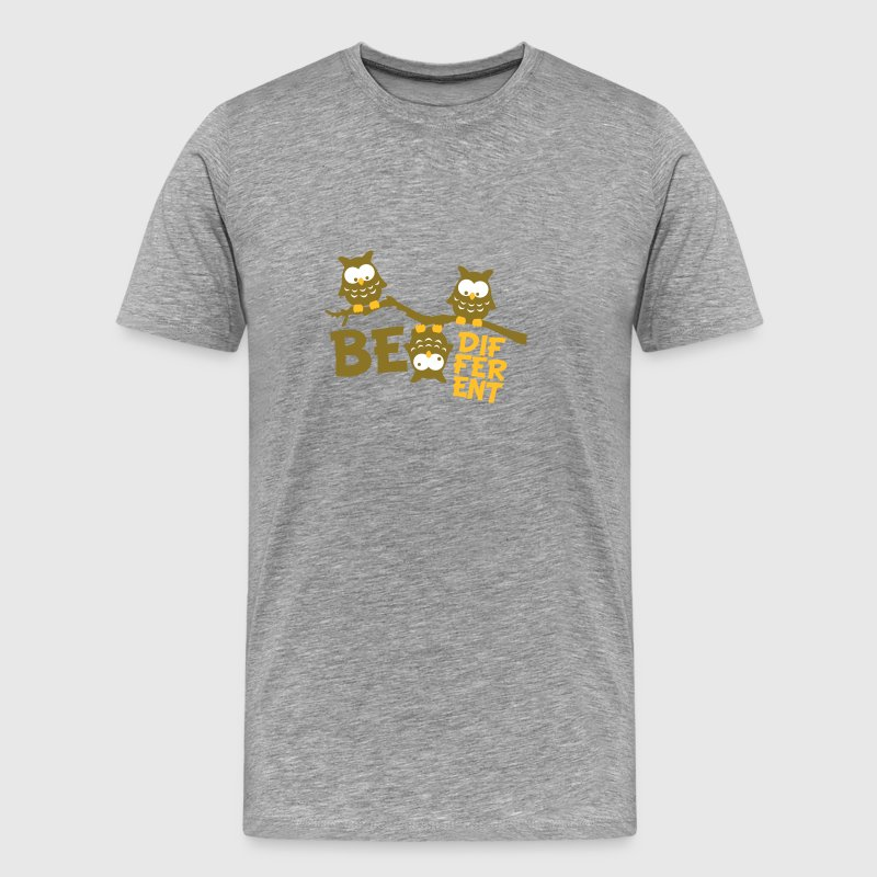 Ugle Funny Owl Branch skøre Be Different T-shirts - Herre premium T-shirt