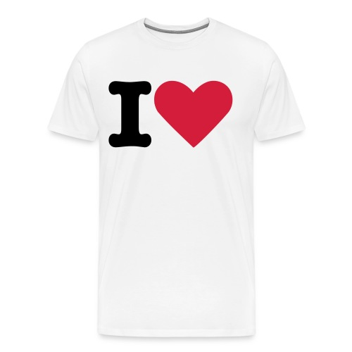 I love - Männer Premium T-Shirt