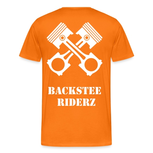 Backstee Riderz T-Shirt Orange - Männer Premium T-Shirt