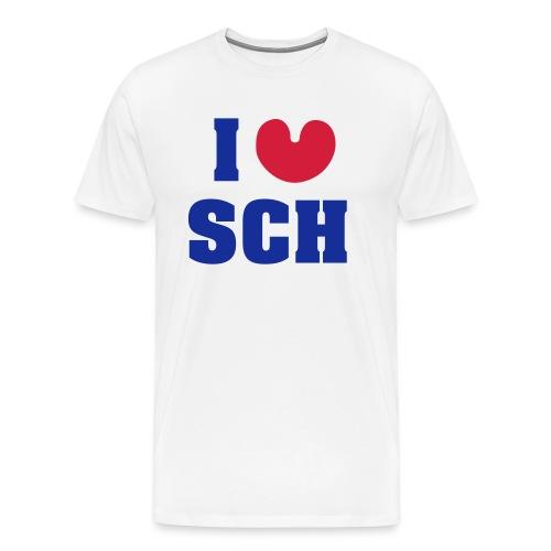 I love SCH - Mannen Premium T-shirt