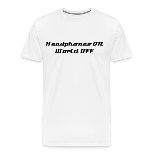 world off - White - Men's Premium T-Shirt