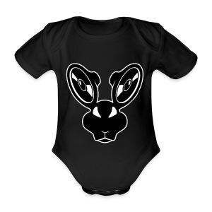 Black baby rabbit. - Baby Bio-Kurzarm-Body