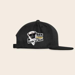 Sex Pugs RocknRoll Retro Basecap - Snapback Cap