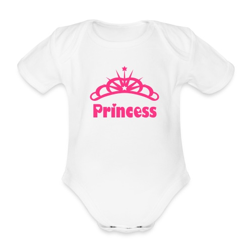 Princess Baby Grow - Organic Short-sleeved Baby Bodysuit