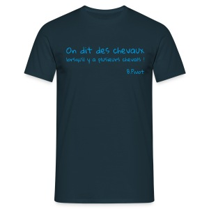 On dit des chevaux ! - or jaune - T-shirt Homme