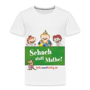 Schach statt Mathe! - Kinder Premium T-Shirt