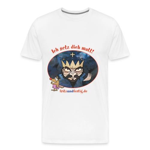 Der Schwarze König - Männer Premium T-Shirt