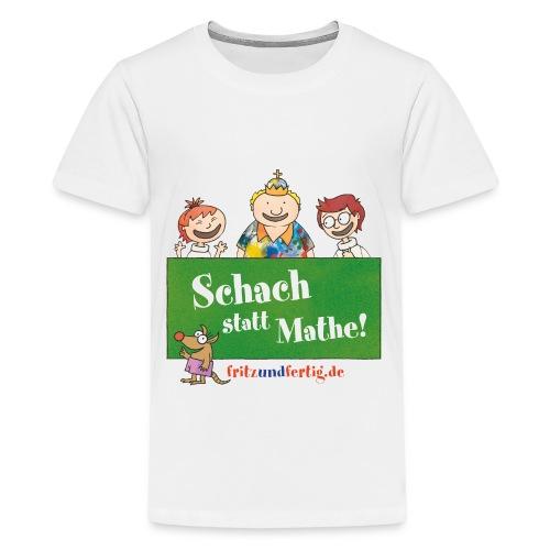 Schach statt Mathe! - Teenager Premium T-Shirt