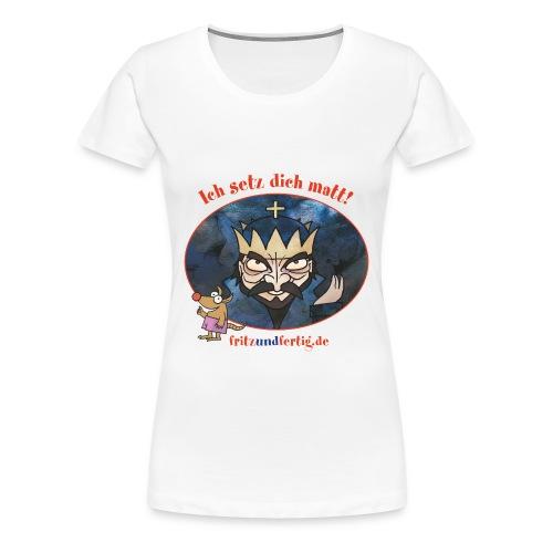 Der Schwarze König - Frauen Premium T-Shirt