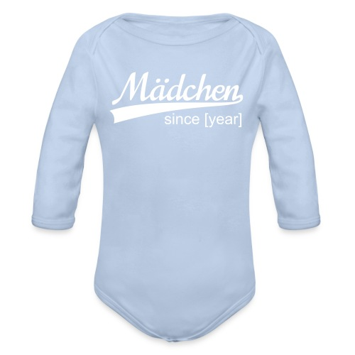 Mädchen, since [your year] - Baby Bio-Langarm-Body