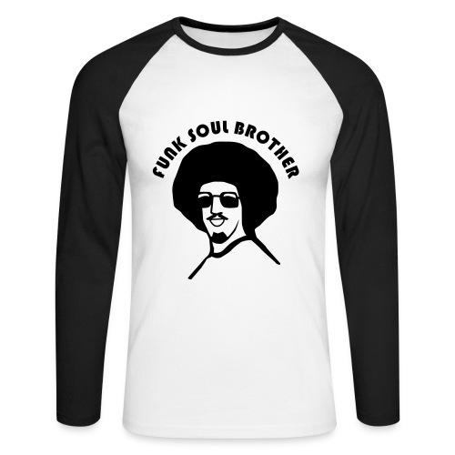 NaturalBrother - Mannen baseballshirt lange mouw